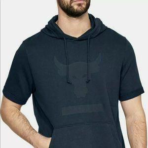 Under Armour Project Rock Mens Short Sleeve Hoodie